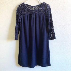 Old Navy navy blue lace crochet dress